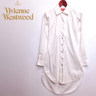 ヴィヴィアンウエストウッド(Vivienne Westwood)のイタリア製 ヴィヴィアンウエストウッド ロング シャツワンピース インポート(シャツ/ブラウス(長袖/七分))