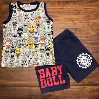 ベビードール(BABYDOLL)のアンパン袖なしTシャツ、ベビードール半ズボン上下セットまとめ売り100cm(その他)