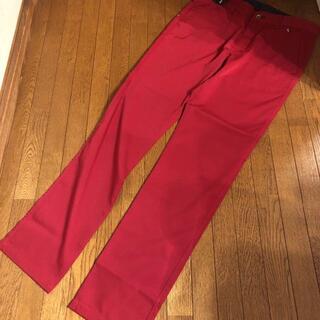 シナコバ(SINACOVA)のSINA COVA シナコバ、新品、オシャレな上質パンツ:サイズW88.赤(チノパン)