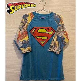 ディーシー(DC)のスーパマン 七分袖 Mサイズ Tシャツ ビンテージ DCコミック MARVEL(Tシャツ(長袖/七分))