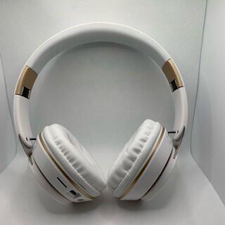 ワイヤレスヘッドフォン Bluetooth5.0 マイク 密閉型 ホワイト(ヘッドフォン/イヤフォン)