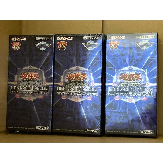 KONAMI(コナミ)の遊戯王 リンクヴレインズパック3 3BOX エンタメ/ホビーのトレーディングカード(Box/デッキ/パック)の商品写真