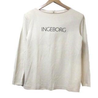 インゲボルグ(INGEBORG)のインゲボルグ Tシャツ 長袖 ベージュ カットソー ロンT ロゴ プリント(Tシャツ/カットソー(七分/長袖))