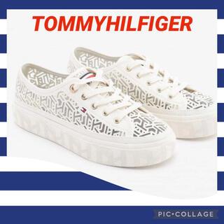 TOMMY HILFIGER - トミーヒルフィガー 👟 スニーカーモノグラムプラットフォーム 新品✨