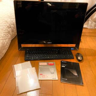 バイオ(VAIO)のSONY VAIO 一体型デスクトップ24型 VPCL138FJ(デスクトップ型PC)