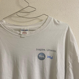 Hanes - 90s jerzees  intel ロゴ 企業 technology Tシャツ