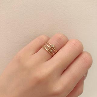 ココシュニック(COCOSHNIK)のココシュニック リング K10 3本セット(リング(指輪))