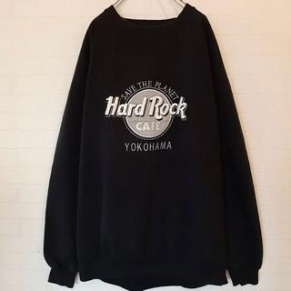 大人気色 ハードロックカフェ スウェット トレーナー Yokohama ブラック