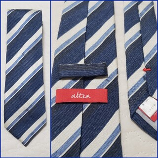 アルテア(ALTEA)の良品/alteaアルテア/イタリア製/シルクストライプタイ/Milano(ネクタイ)