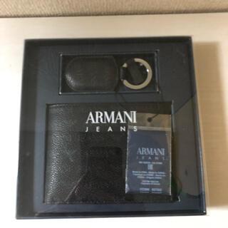 アルマーニジーンズ(ARMANI JEANS)のアルマーニジーンズ 二つ折り財布 キーホルダーセット(折り財布)