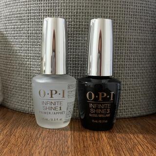 オーピーアイ(OPI)の2本セット・OPIインフィニットシャイン ベースコート&トップコート(ネイルトップコート/ベースコート)