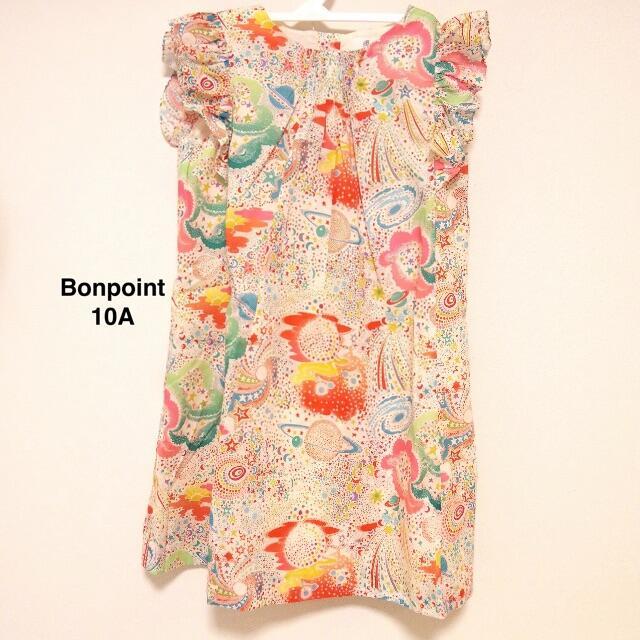 Bonpoint(ボンポワン)の新品未使用 Bonpoint ss20 10a ボンポワン リバティ ドレス キッズ/ベビー/マタニティのキッズ服女の子用(90cm~)(ワンピース)の商品写真