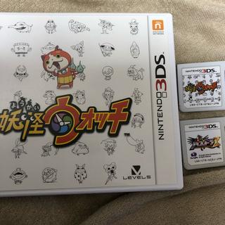 ニンテンドー3DS(ニンテンドー3DS)の妖怪ウォッチ 3DS パズドラのソフト付き(携帯用ゲームソフト)