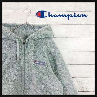 Champion - 90.s チャンピオンchampion シルバーカラー長毛ボアパーカー ゆるだぼ