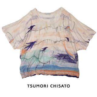 TSUMORI CHISATO - TSUMORI CHISATO 青い鳥 カットソー ツモリチサ ツバメ