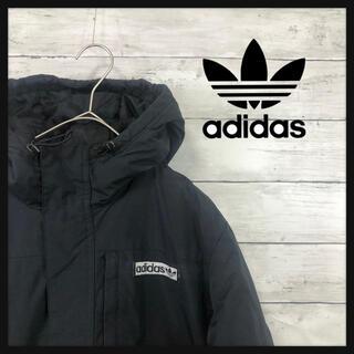 adidas - adidas ワンポイントトレフォイルボックス刺繍 ブラックダウンジャケット