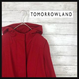 TOMORROWLAND - トゥモローランド フード付きコート 定番カラーボルドーレッド
