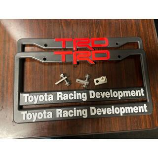 トヨタ(トヨタ)のTRD ナンバーフレーム(車外アクセサリ)