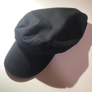 ジーユー(GU)の帽子 キャスケット マリンキャップ ワークキャップ 黒 ブラック(キャスケット)