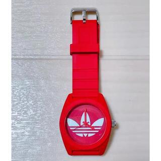 アディダス(adidas)の期間限定お値下げ adidas 腕時計 赤(腕時計)