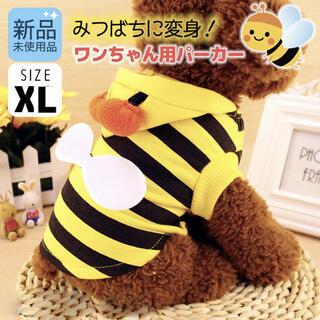大きいサイズ XL みつばち パーカー 犬 ワンコ ペット ペット服 ミツバチ