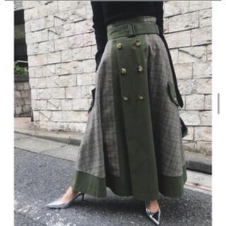 Ameri VINTAGE - アメリヴィンテージ トレンチスカート  check trench skirt