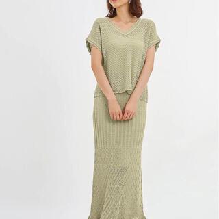 ジーユー(GU)のほぼ新品 GU 2020summer  クロシェ編みマーメイドスカート(ロングスカート)