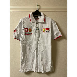 フェラーリ(Ferrari)のプーマ PUMA フェラーリ Ferrari ポロシャツ 半袖 ワッペン 白 L(ポロシャツ)