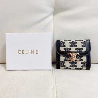 celine - CELINE トリオンフ エンブロイダリー スモールフラップウォレット