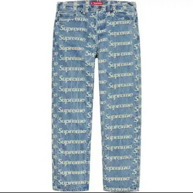 Supreme(シュプリーム)の32 Supreme Frayed Logos Regular Jean  メンズのパンツ(デニム/ジーンズ)の商品写真