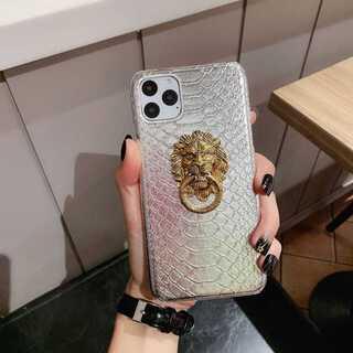 新品 銀★ライオン 指リング  オシャレ  iPhone8 / Xsケース ★