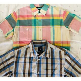 アールニューボールド(R.NEWBOLD)のアールニューボールド 半袖 メンズ シャツ 2枚セット(シャツ)