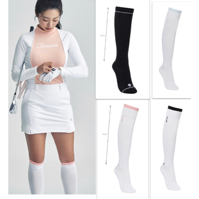 DESCENTE(デサント)の☆DESCENTE GOLF☆ デサント韓国 ハイソックス40cm スポーツ/アウトドアのゴルフ(その他)の商品写真