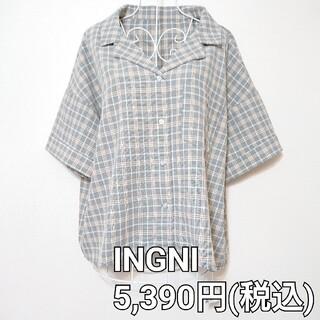 イング(INGNI)の《値下げ✖️》INGNI    開襟チェック柄半袖シャツ(シャツ/ブラウス(半袖/袖なし))