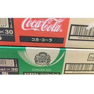 コカコーラ(コカ・コーラ)の カナダドライ ジンジャーエール1ケース コカ・コーラ 1ケース 合計60本(ソフトドリンク)