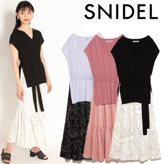 snidel(スナイデル)のSNIDEL/セットワンピース/ほぼ未使用美品♪ レディースのワンピース(ロングワンピース/マキシワンピース)の商品写真
