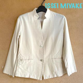 ISSEY MIYAKE - イッセイミヤケ 軽量 ノーカラー グラデーション サマー ジャケット