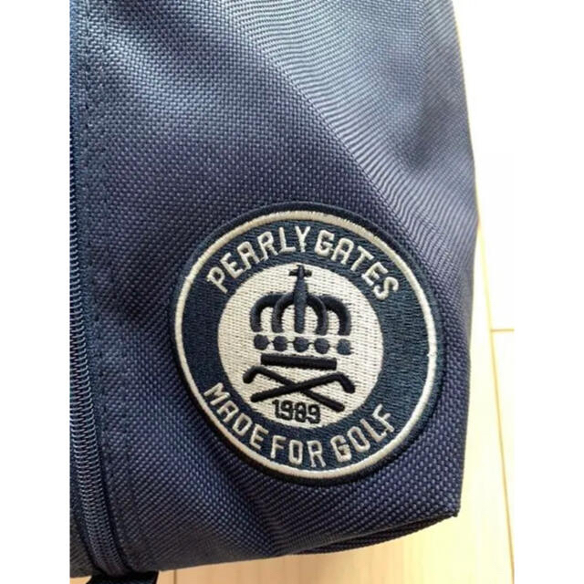 PEARLY GATES(パーリーゲイツ)のパーリーゲイツ  ゴルフシューズバッグ シューズケース ネイビー 新品未使用 スポーツ/アウトドアのゴルフ(その他)の商品写真