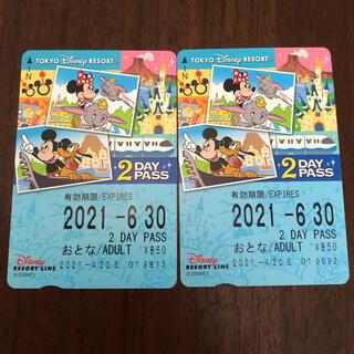 Disney - ディズニーリゾートライン 2dayフリーパス