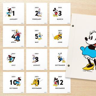 ディズニー(Disney)の 「ALBUSBOOK ディズニー/ミニー」用のマンスリーカードセット(アルバム)