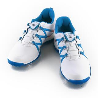 adidas - adidas アディダス ゴルフシューズ ホワイト ブルー 25cm