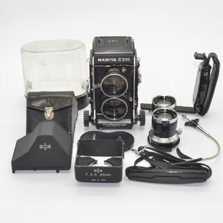 マミヤ(USTMamiya)のMamiya C330 Professional、レンズ2本その他セット付き(フィルムカメラ)