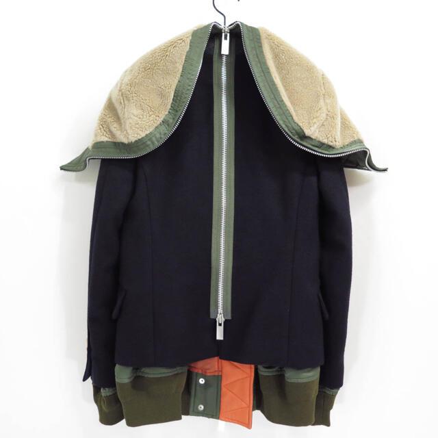 sacai(サカイ)の17AW sacai サカイ ミリタリー ドッキング ハイブリッド ジャケット レディースのジャケット/アウター(ミリタリージャケット)の商品写真