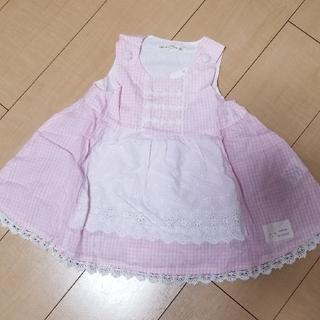 80クーラクール エプロン風ジャンパースカート