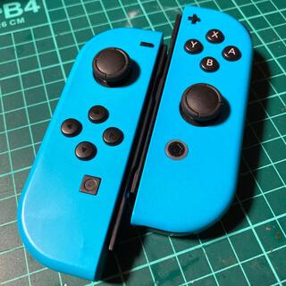 Nintendo Switch - ジョイコン  作動品★ネオンブルー★ ストラップ付き‼️