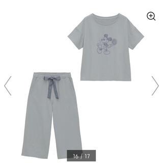 ジーユー(GU)のラウンジセット 半袖 Disney パジャマ ルームウェア(ルームウェア)