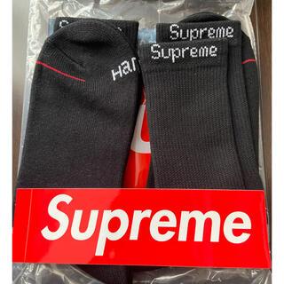 Supreme - supreme Hanes crew socks 2pack 新品未使用