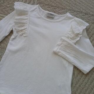 タルティーヌ エ ショコラ(Tartine et Chocolat)の美品LCWAIKIKI長袖カットソー⭐白120130(Tシャツ/カットソー)