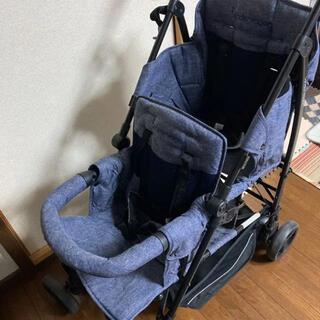 日本育児 - 日本育児 kinderwagon DUOシティ-HOP 2人乗りベビーカー