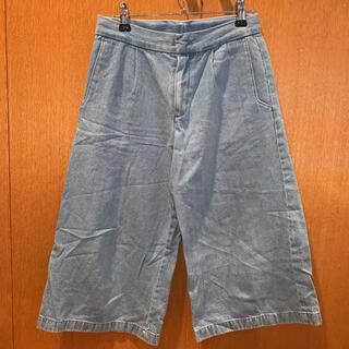 ジーユー(GU)のGU GIRLS デニム ワイドパンツ  140cm(パンツ/スパッツ)